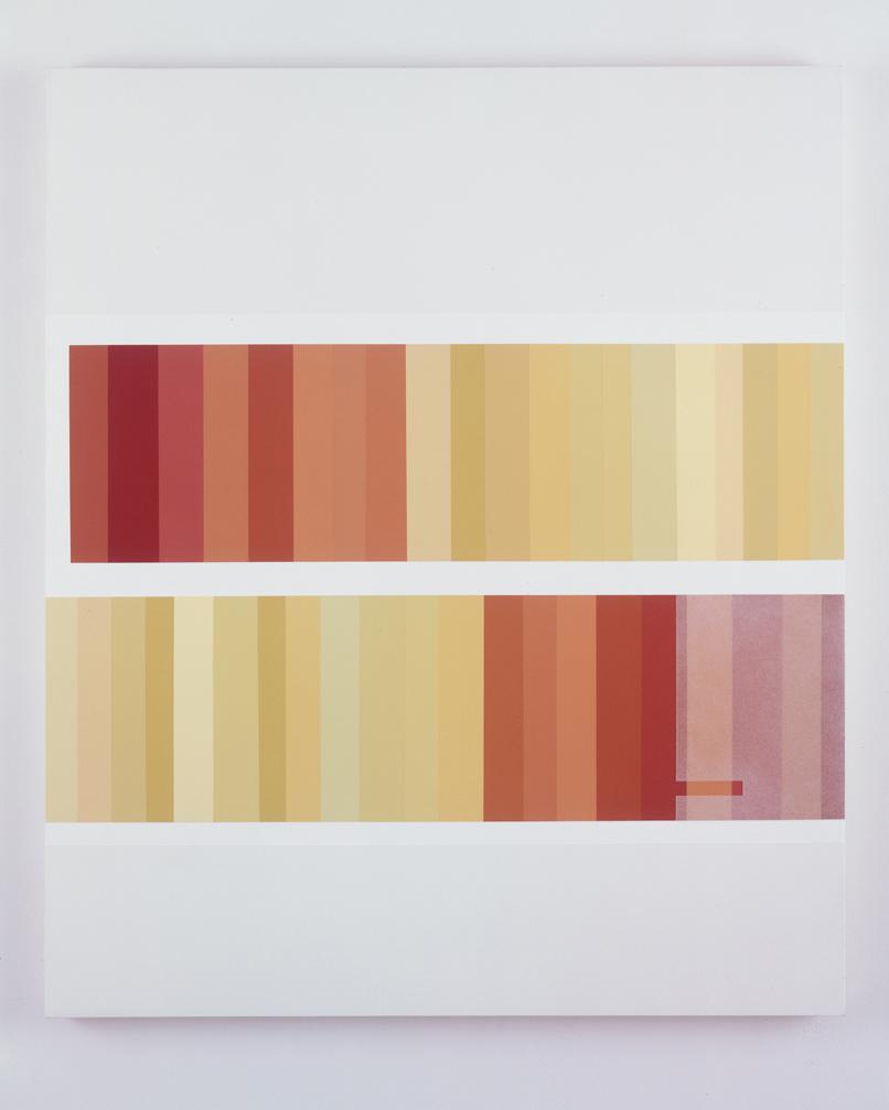 Double Shelf, 1998  Acrylic on canvas over panel  42 x 35-1/2 inches  106.68 x 90.17 cm