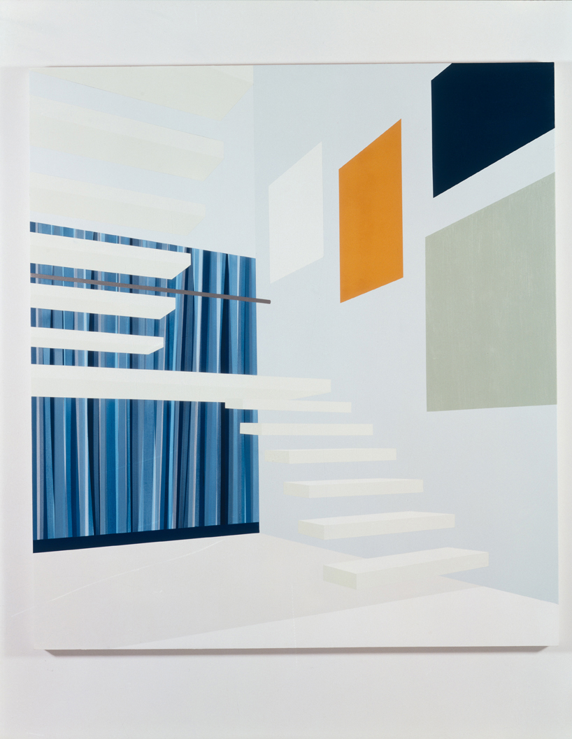 Landing, 1998  Oil and acrylic on canvas over panel  72 x 64 inches  182.88 x 162.56 cm