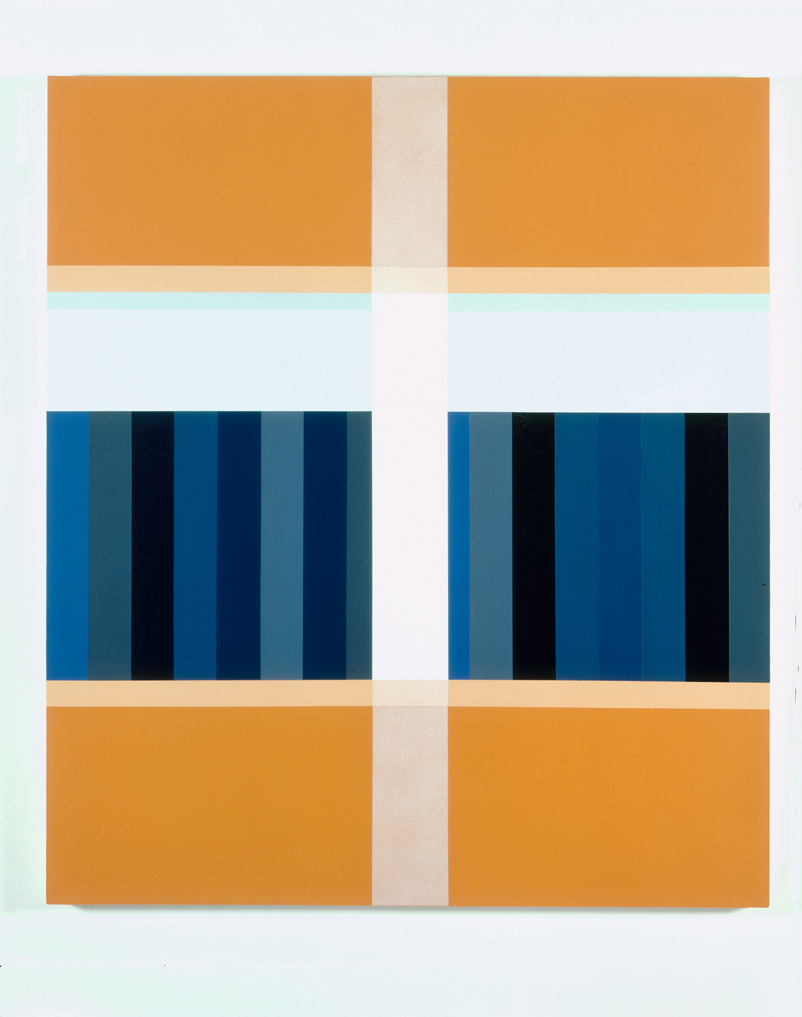 Orange Storage, 1998  Acrylic on canvas over panel  48 x 40 inches  121.92 x 101.6 cm