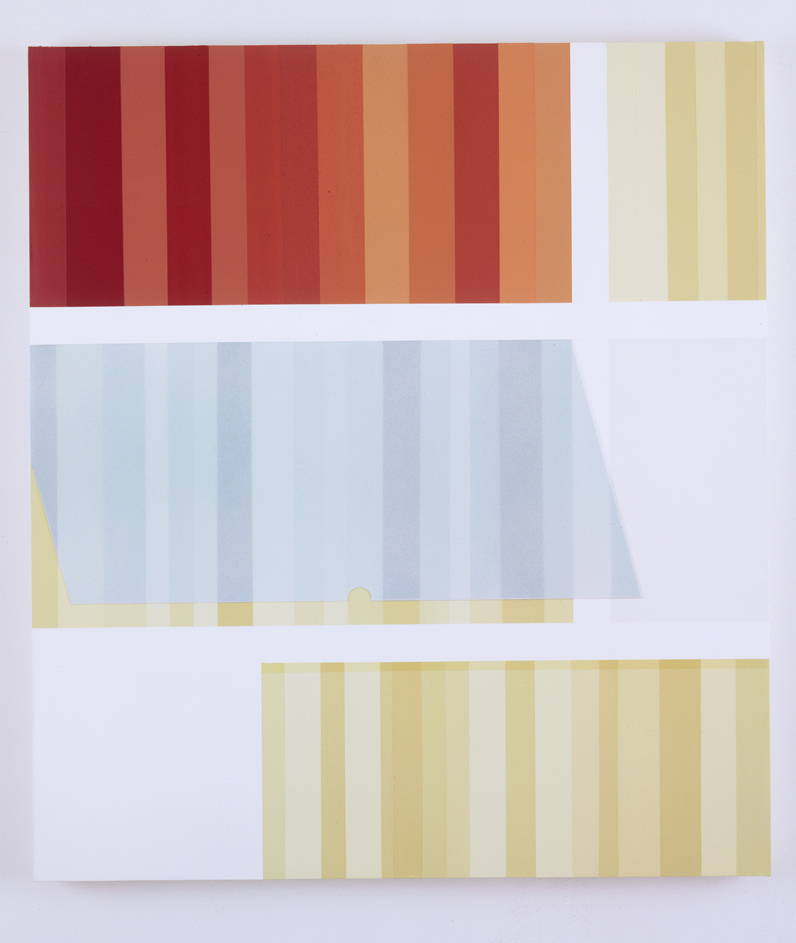 Swing Door Cabinet, 1998  Acrylic on canvas over panel  35 x 31 inches  88.9 x 78.74 cm