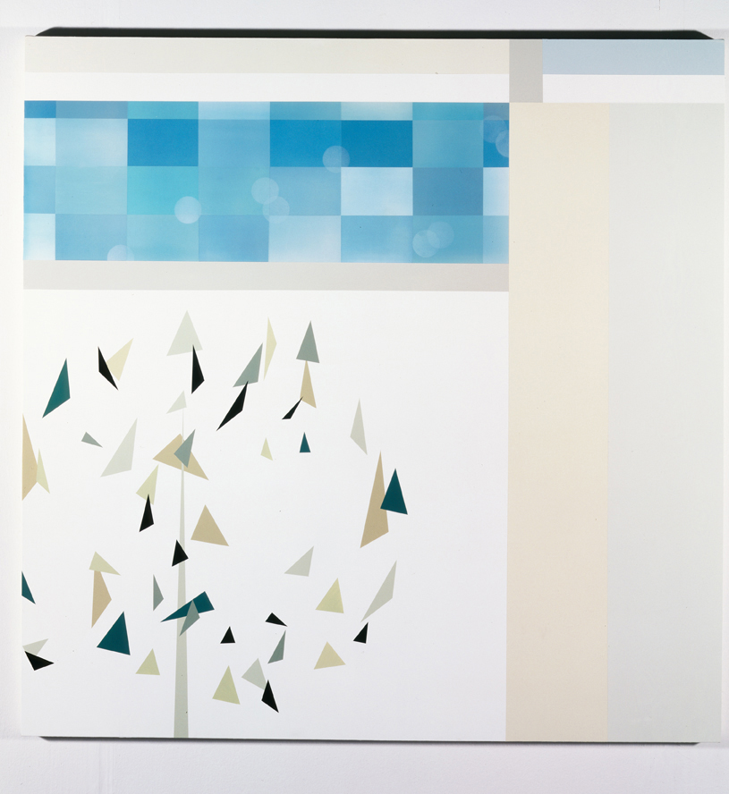 View Through Door (Spring), 1998  Acrylic on canvas over panel  59 x 59 inches  149.86 x 149.86 cm