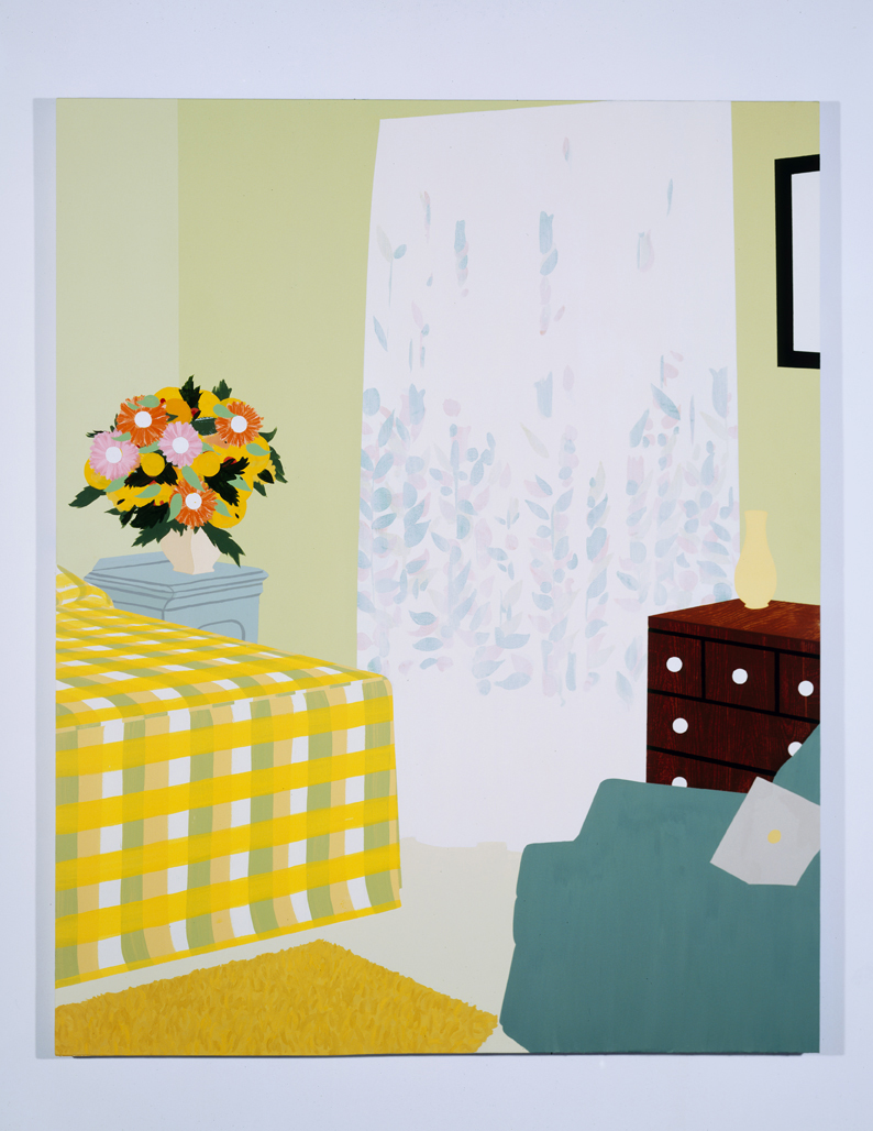 Untitled Interior 1, 1995  Oil and acrylic on canvas over panel  72 x 60 inches  182.88 x 152.4 cm