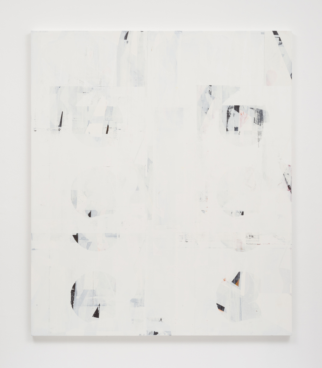 Composite 21 (then and when), 2017  Oil on canvas over panel  77 x 66 inches  195.6 x 167.6 cm