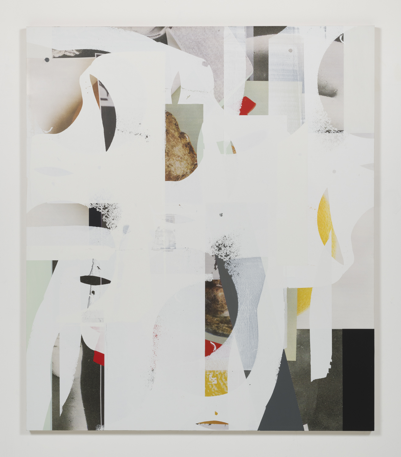 Composite 27 (slack-jaw) , 2017  Oil and UV ink on canvas over aluminum  70 x 60 inches  177.8 x 152.4 cm