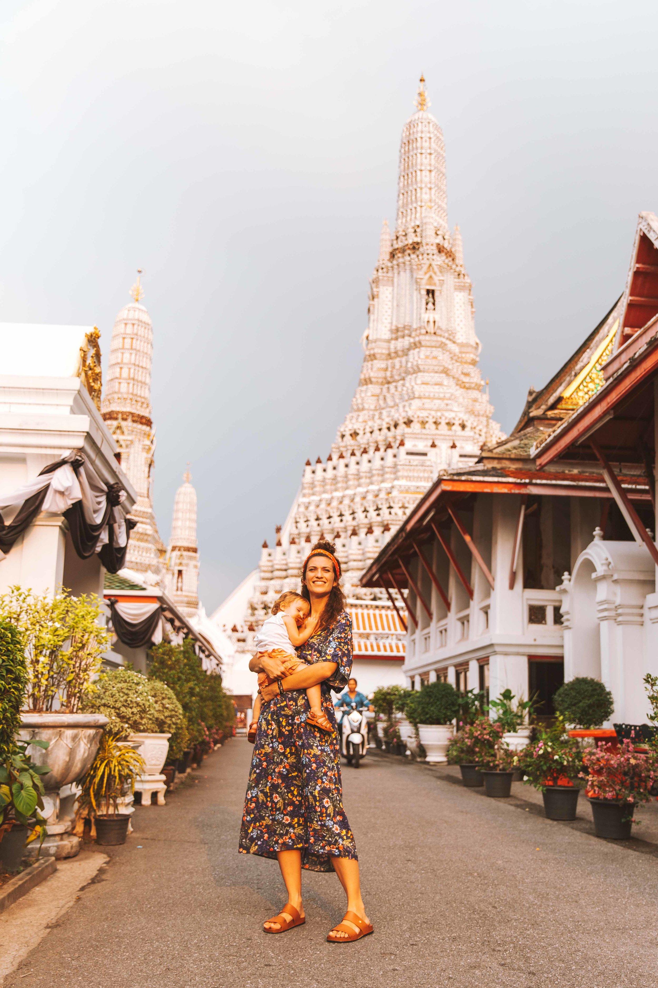 Wat Arun. Al tramonto.