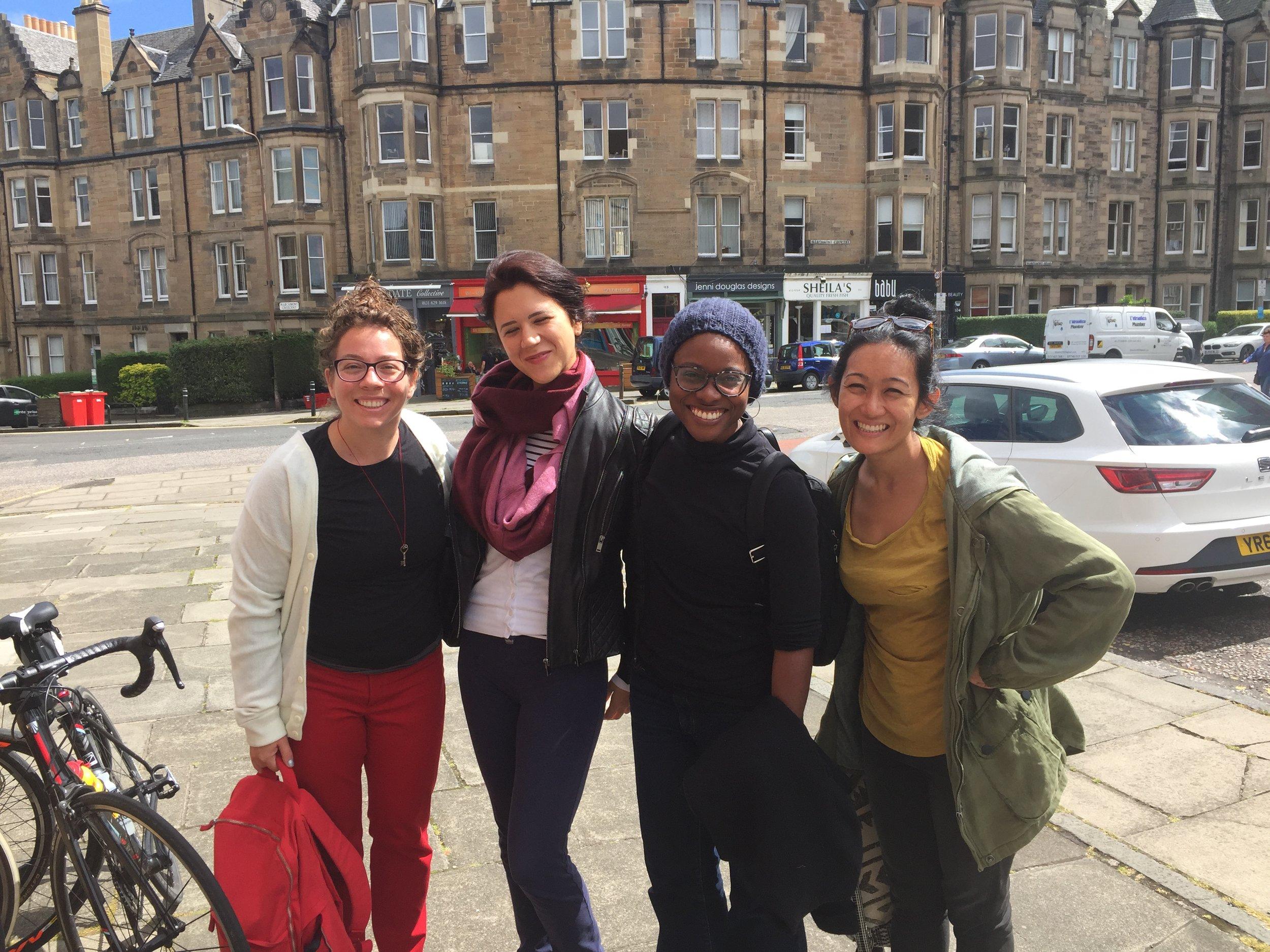 Sunny first day in Edinburgh.
