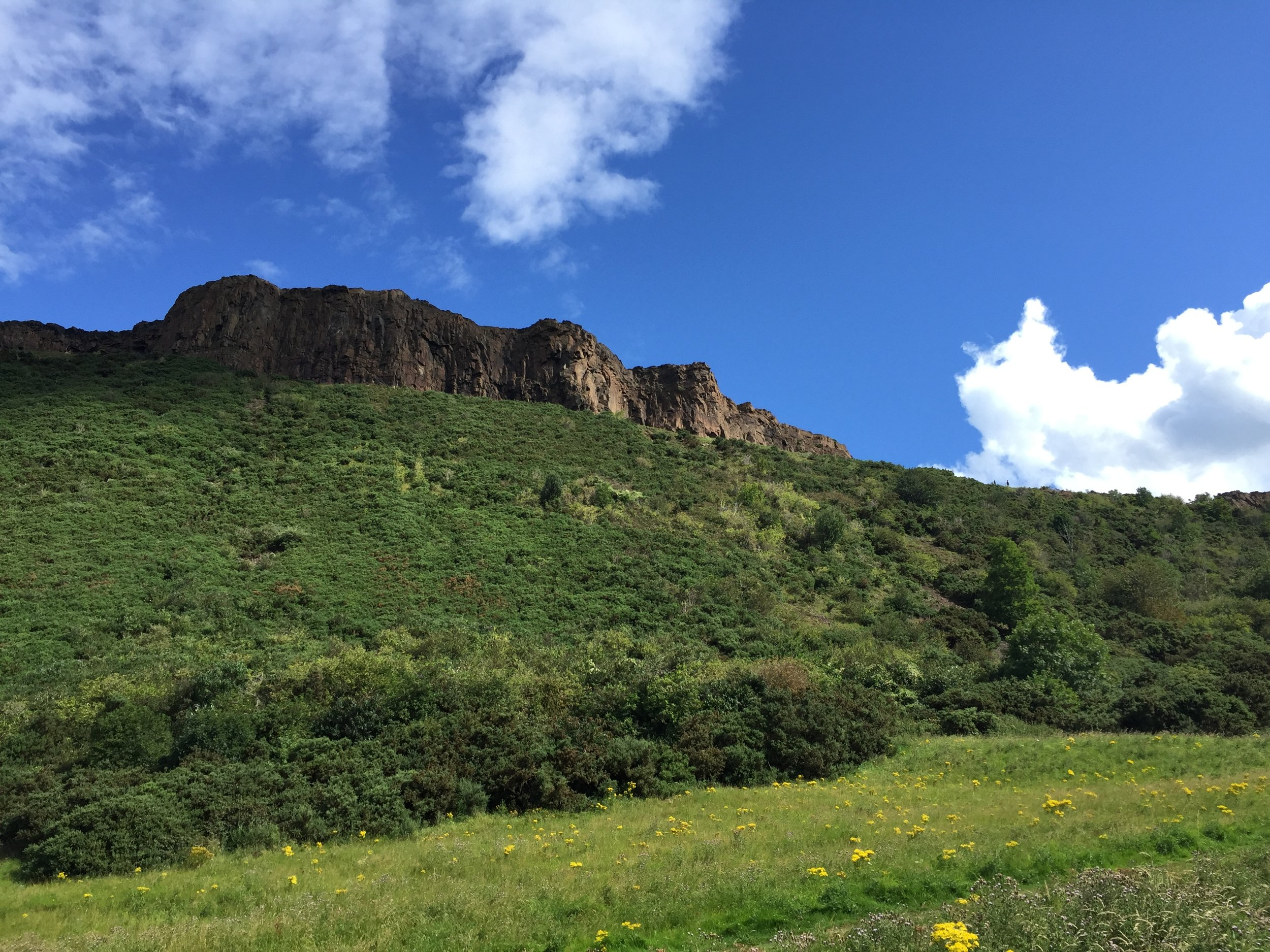 The cliffs of the Salisbury Crags.