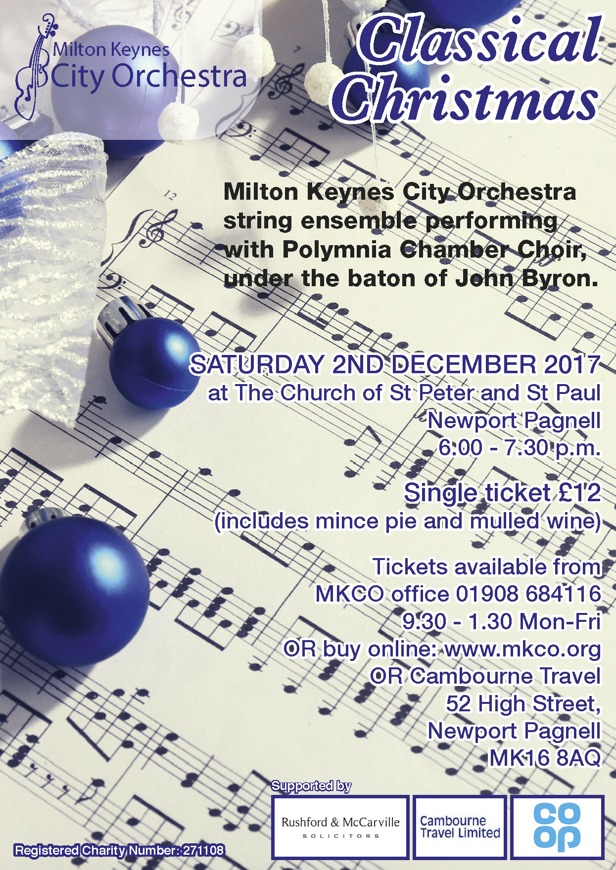"Milton Keynes City Orchestra ""Classical Christmas"""