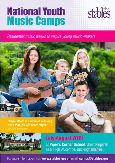 National Youth Music Camps - July - August 2019