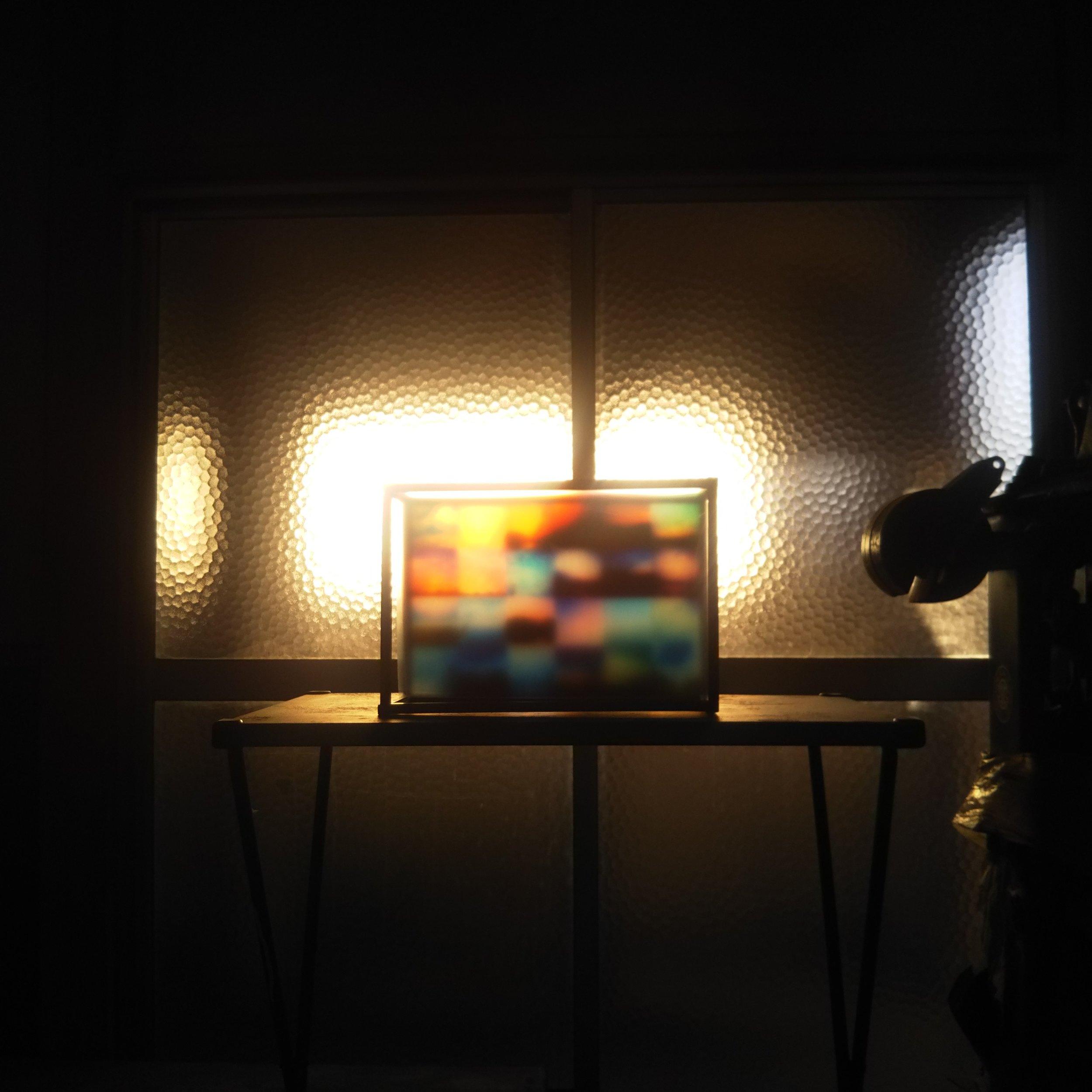 大島毛織にて展示された大澤未来さんの作品