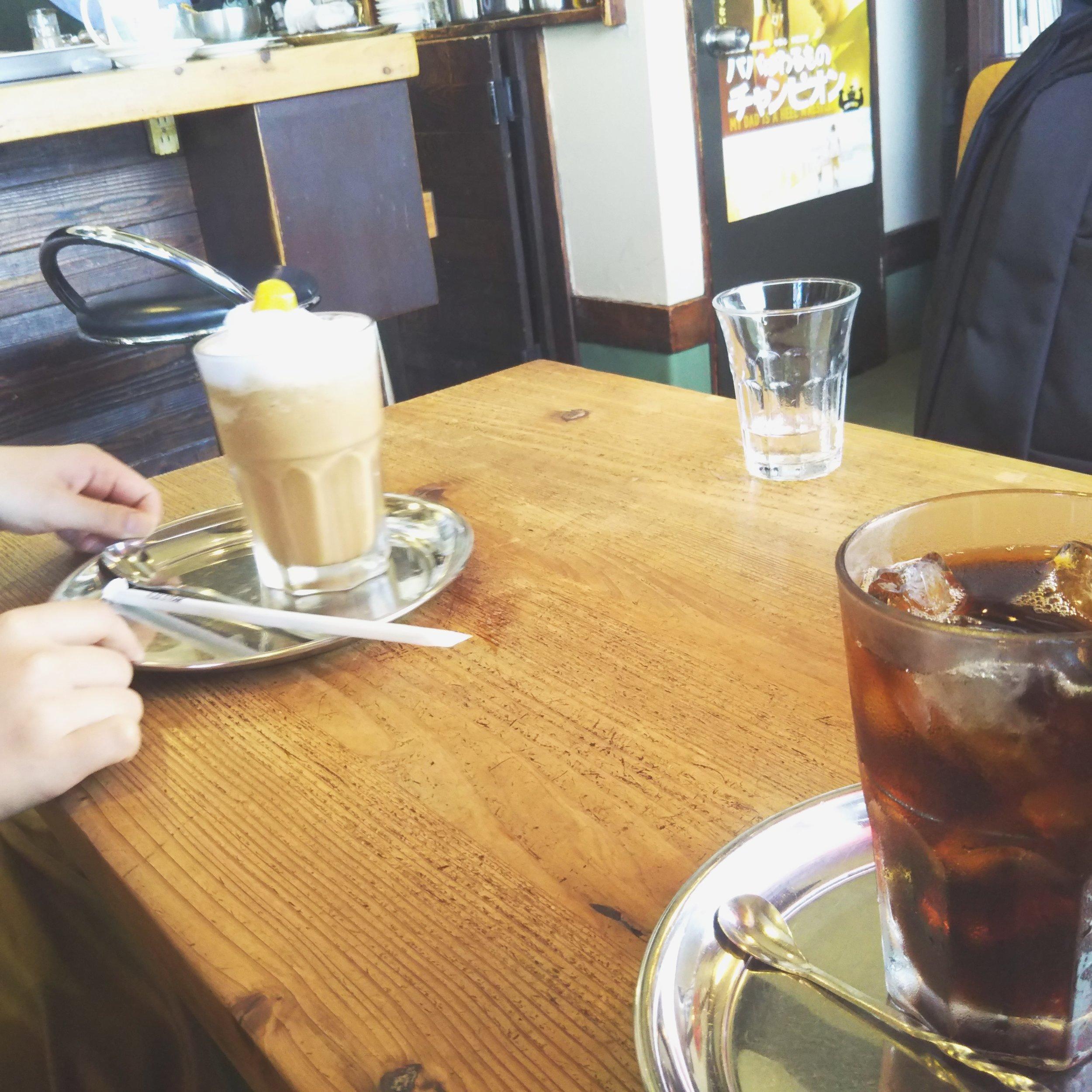 アイスコーヒーも、コーヒーネクターも最高。