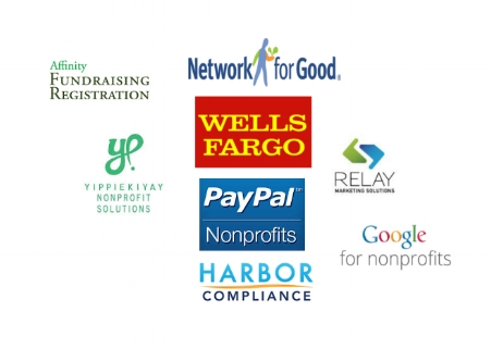 Affinity Fundraising Registration Network for Good Yippiekiyay Nonprofit Solutions Wells Fargo PayPal Nonprofits Relay Marketing Solutions Harbor Compliance Google for Nonprofits