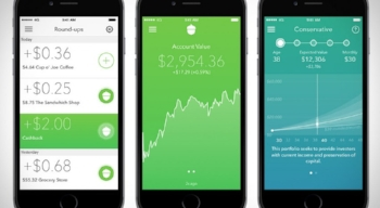 Smartphone phone app spare change pay off debt invest financial literacy