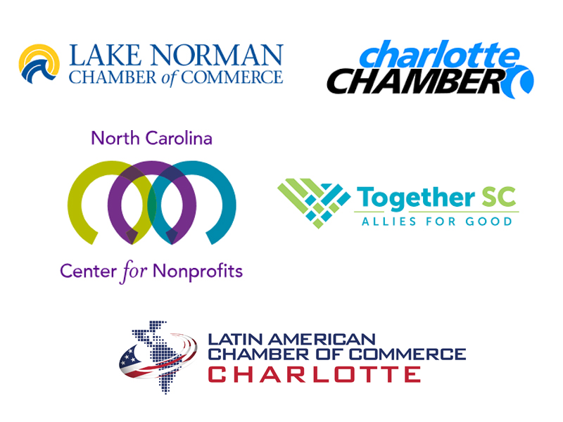 Lake Norman Chamber of Commerce Charlotte Chamber North Carolina Center for Nonprofits Together SC Allies For Good Latin American Chamber of Commerce Charlotte