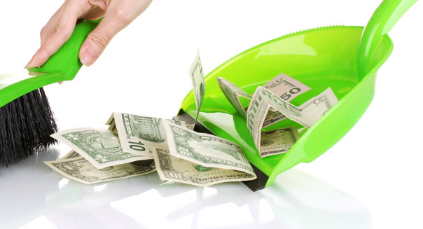 Spring Clean Your Finances Sweeping Sweep Money Cash Financial Literacy