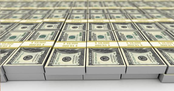 Money Cash Dollars Large Amount Windfall Lottery