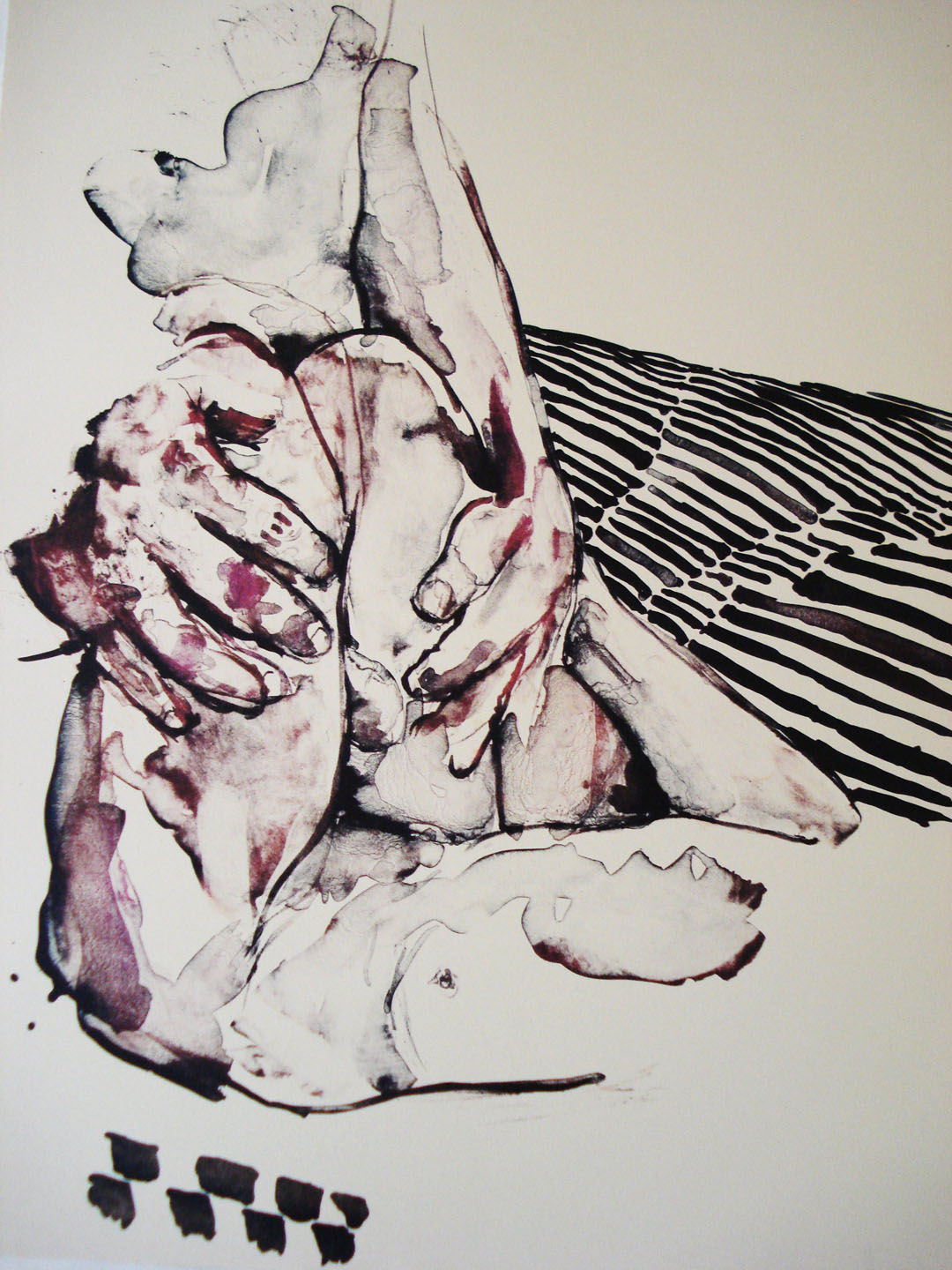 Penal Code 269 a and b #3;2007    Reductive Stone Lithograph, 18 x 15 in