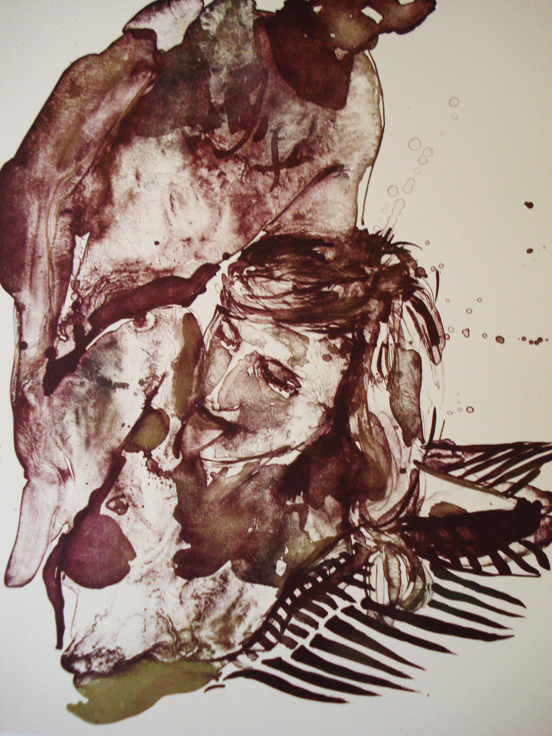 Penal Code 269 a and b #4;2007    Reductive Stone Lithograph, 18 x 15 in