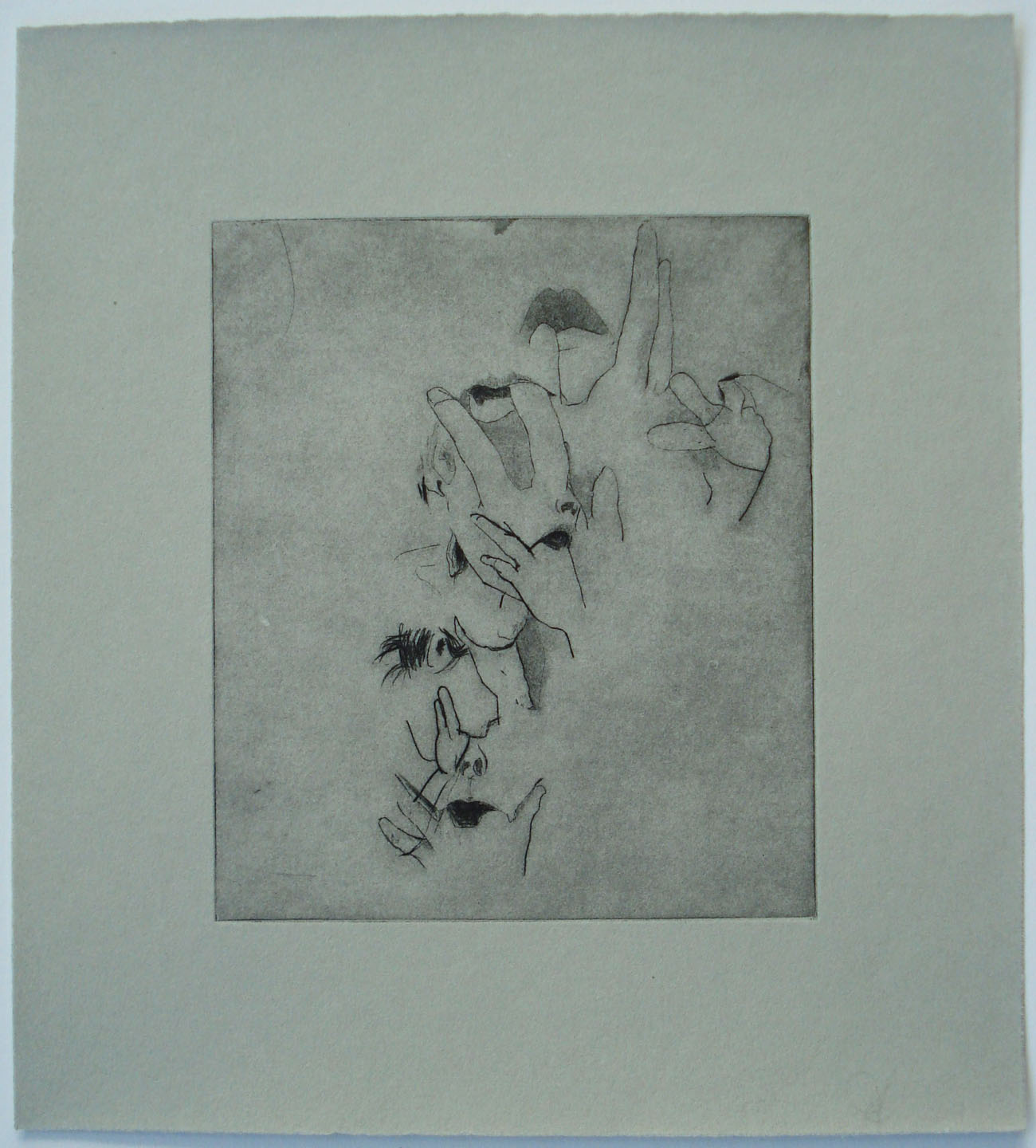 Purge,(TR SimonGreen);2004    Drypoint, 9.5 x 10.5 in