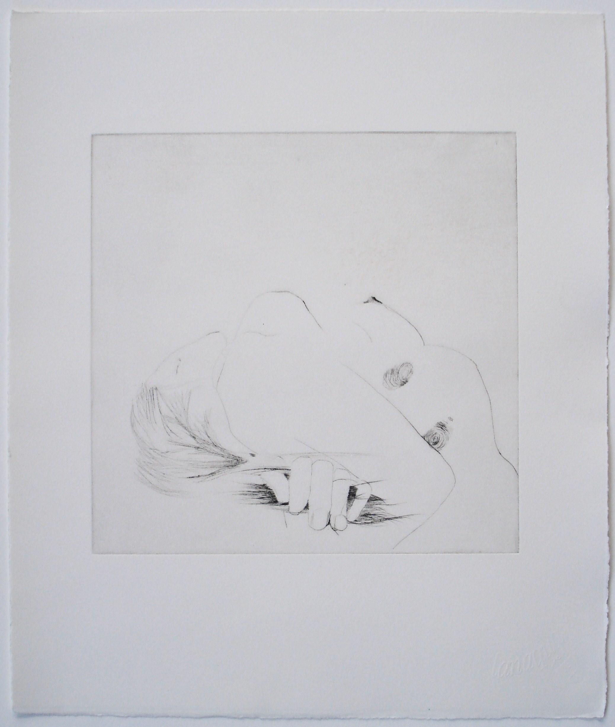 Untitled (fingerprint);2004    Drypoint, 12 x 14 in
