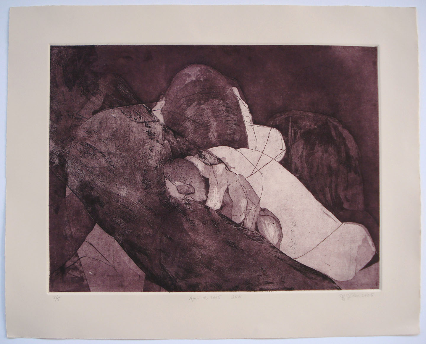April 10, 2005 3am;2005    Etching, 22 x 18 in