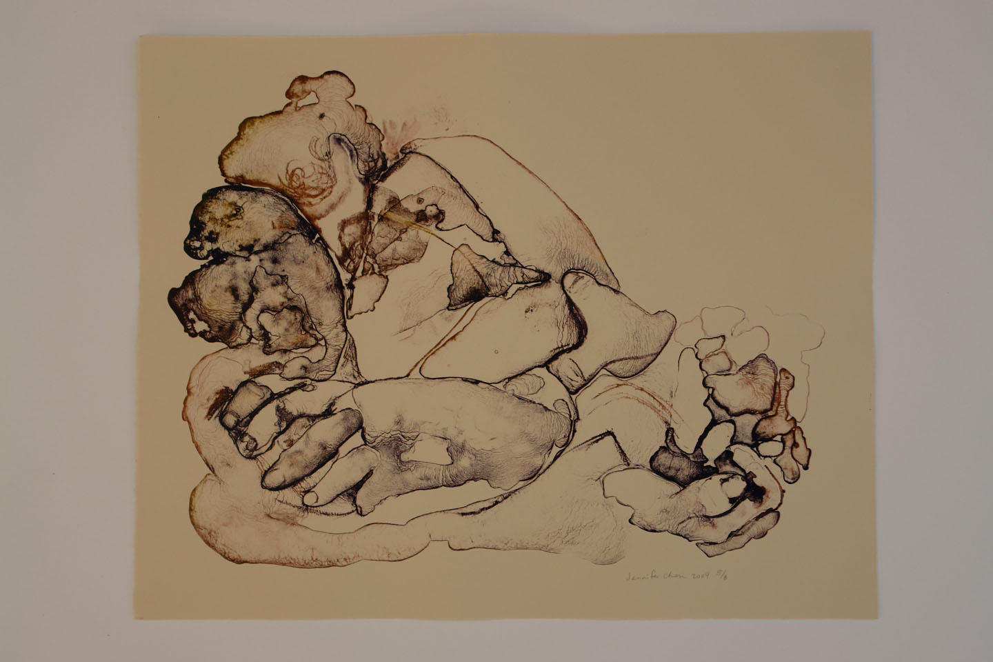 Untitled;2009    Reductive Stone Lithograph,15 x 18 in