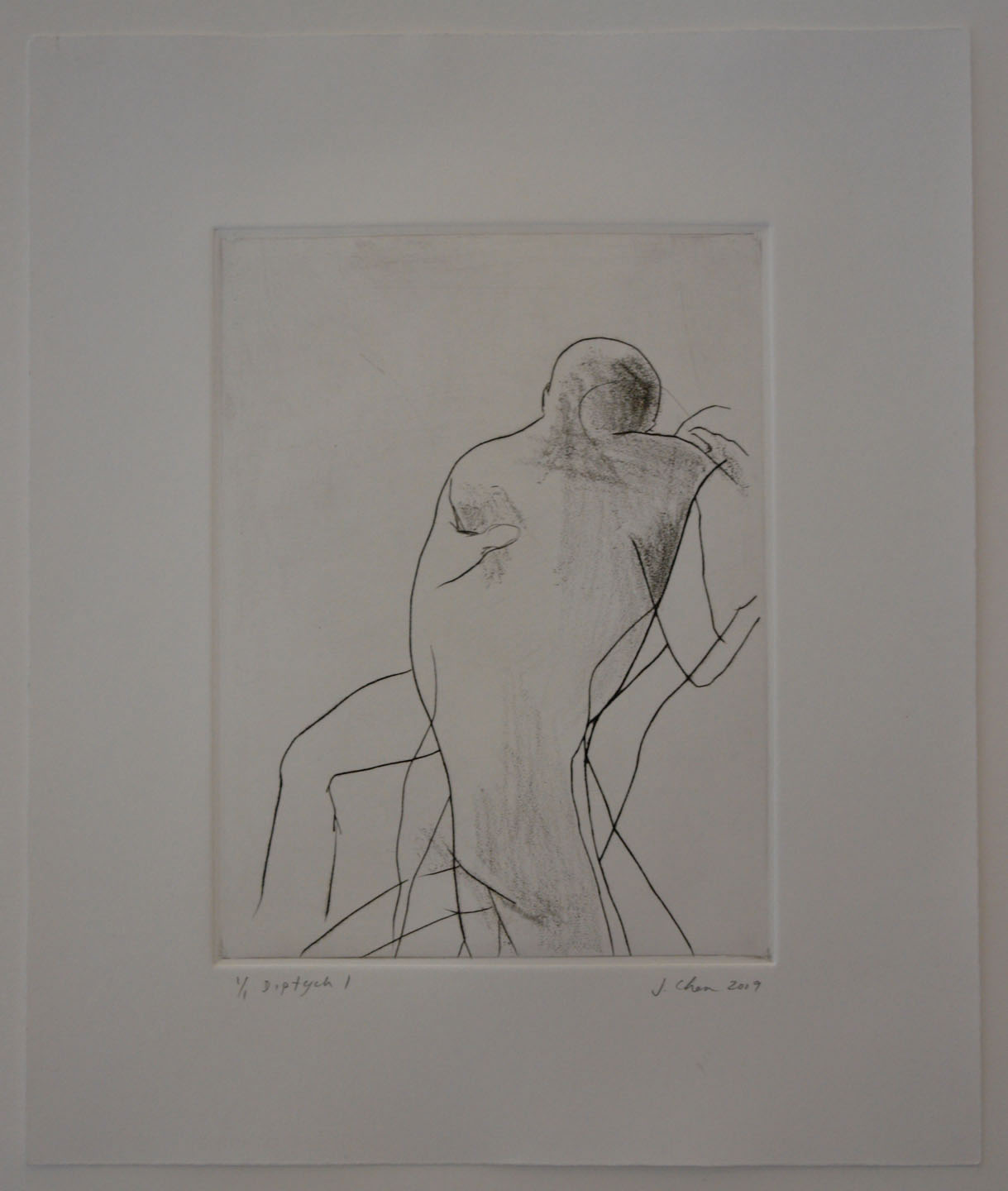 Untitled (Diptych);2009    Drypoint, 8 x 6 in