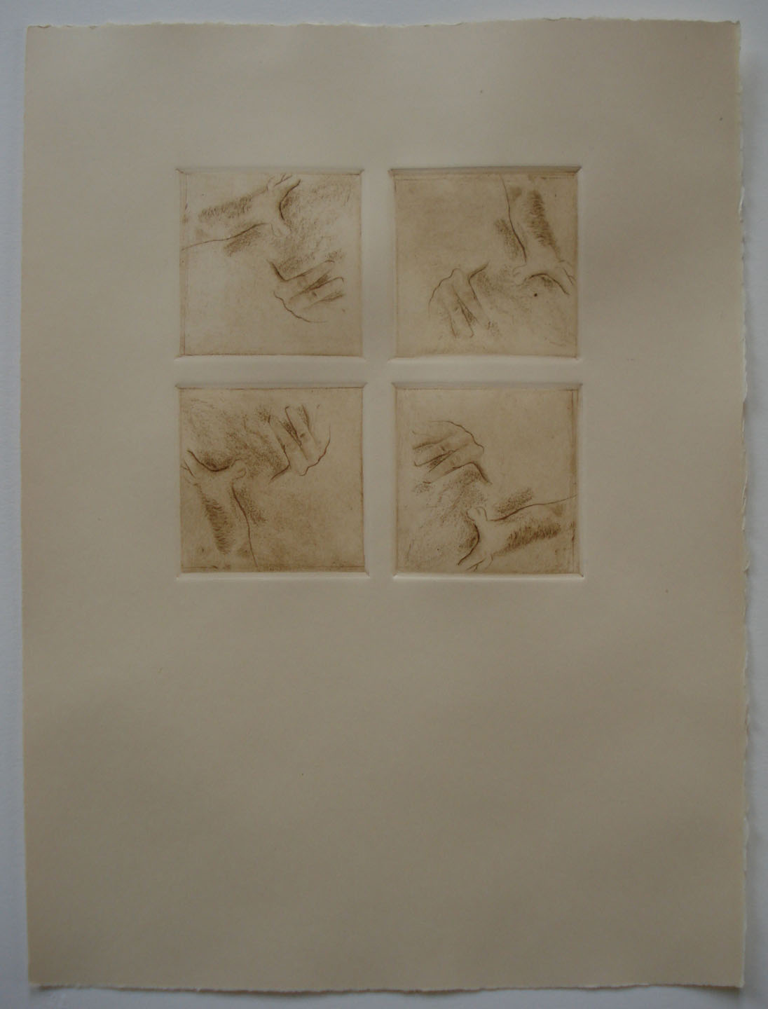 """Untitled    (Patterns and Orientation; Perspective - Square Format); 2011   Intaglio;Drypoint,15x11"""""""