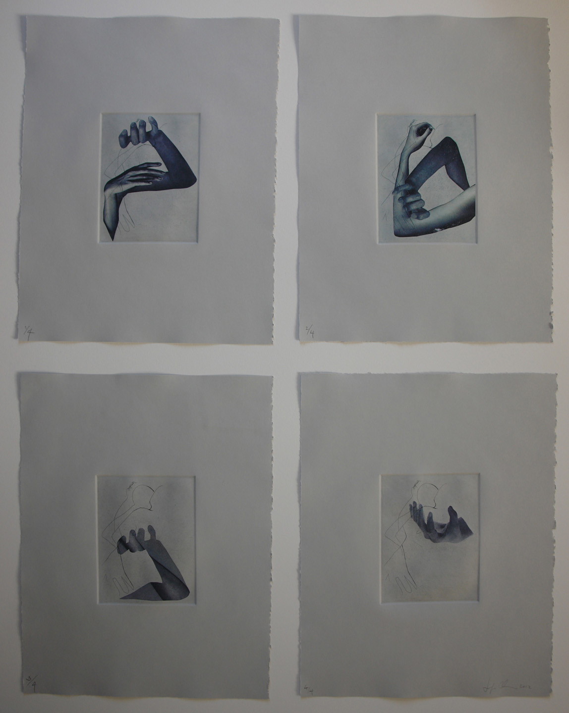 "Untitled; 2012     Intaglio,Chine-collé,15x11"""