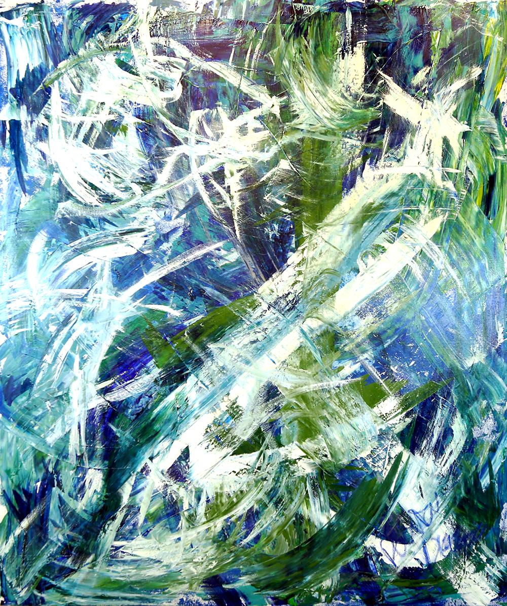 Neptunium (NP)   Danielle du Toit Stretched Canvas Acrylic 72x60 inches