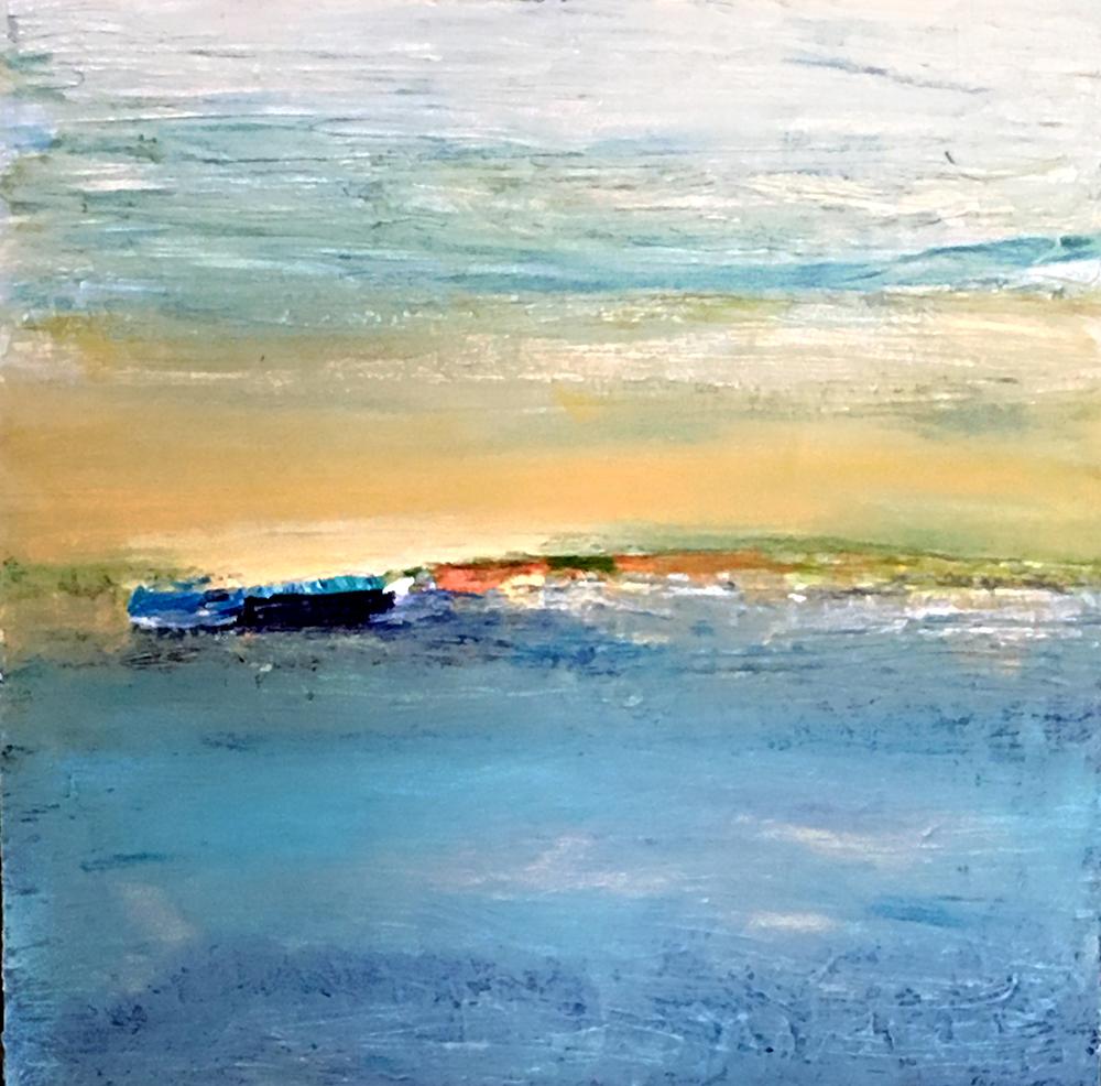 Beach   Lisa Finch Acrylic on Canvas 36x36 inches