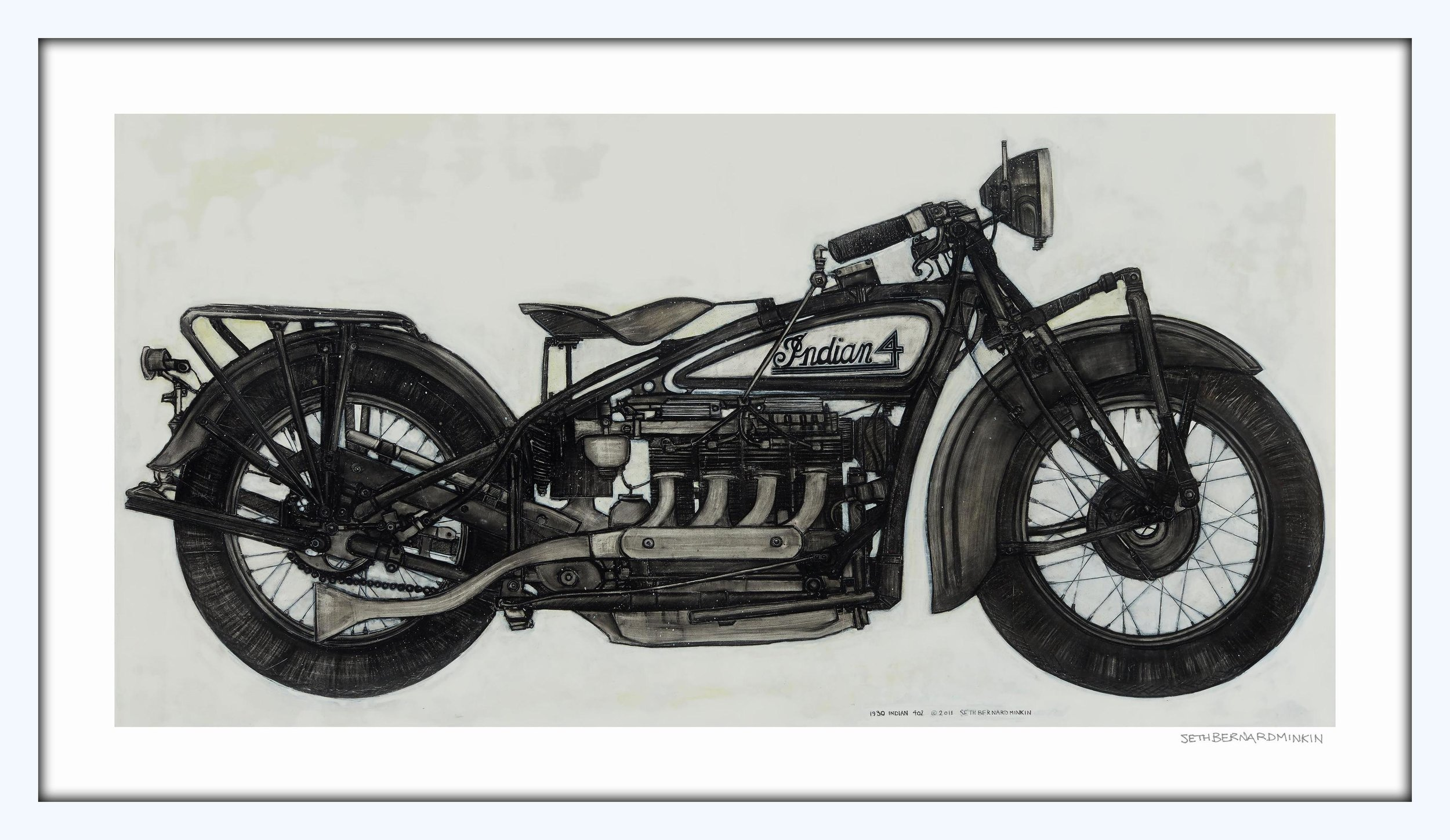 Indian Motorcycle – Artist's Proof   Seth B Minkin Museum Quality Giclee Proof | 1 of 1 22x38 inches