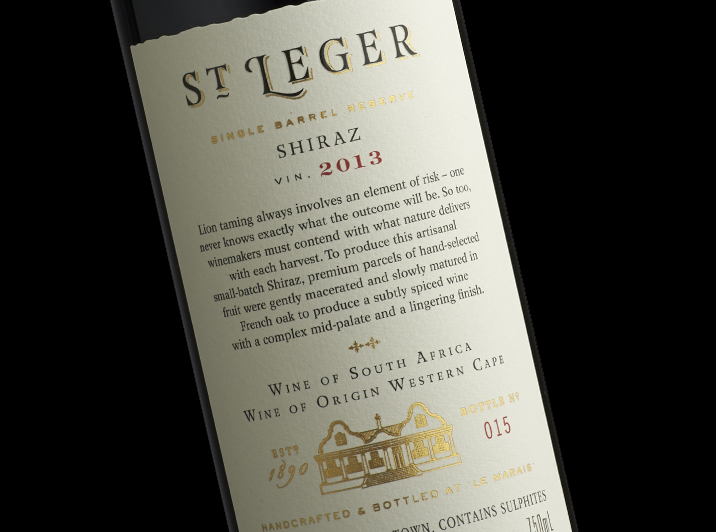 St Leger Wine Label Design