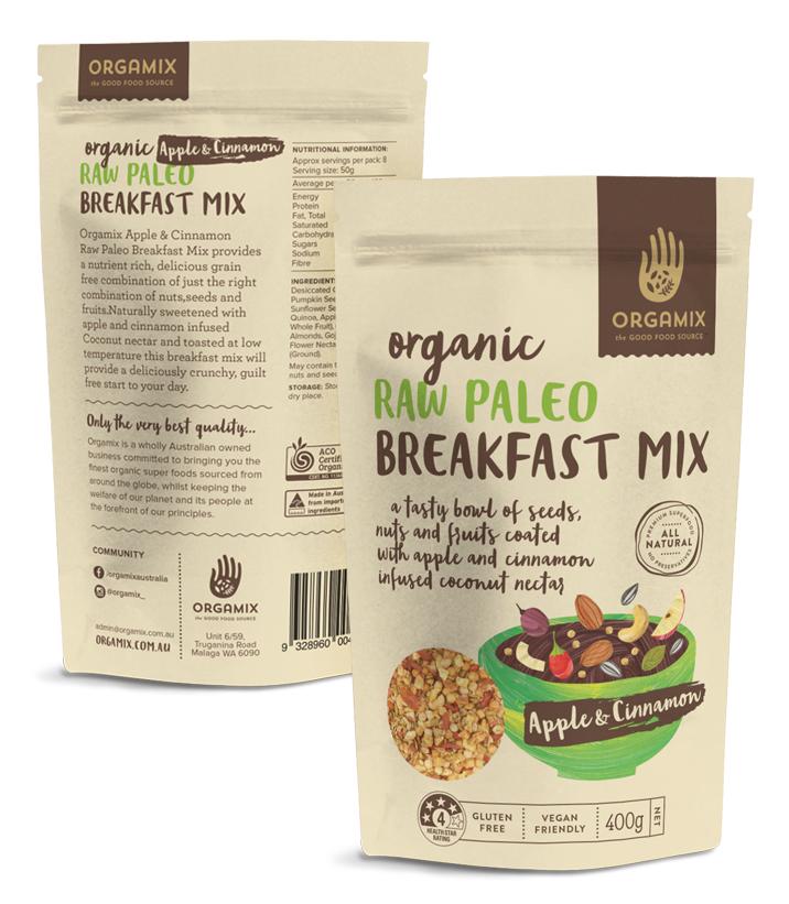 Orgamix Food Packaging design