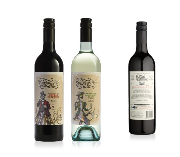 Curious Nature Wine Label Design