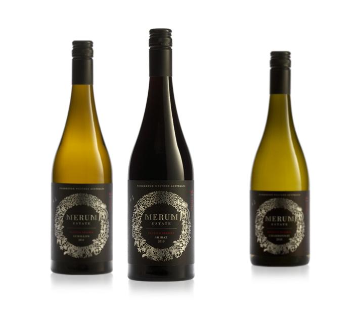 Merum Estate Wine Label Design
