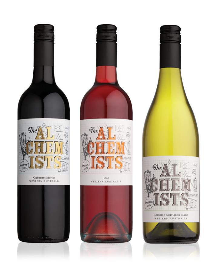 The Alchemists Wine Label Design