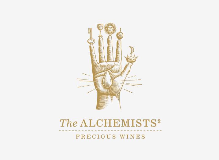 The Alchemists Wine Brand Logo Design
