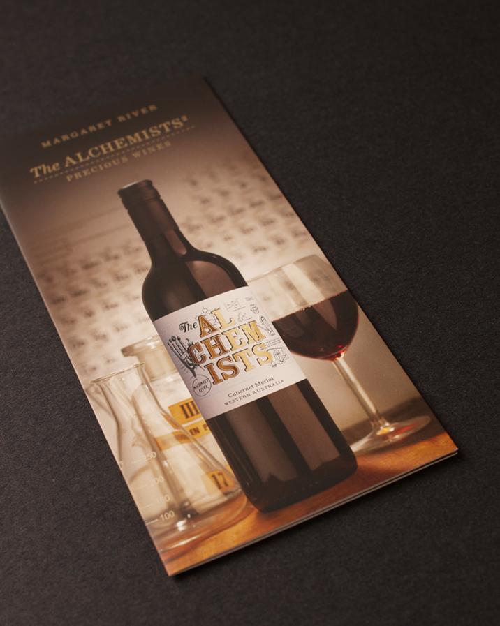 The Alchemists Wine Brochure Design