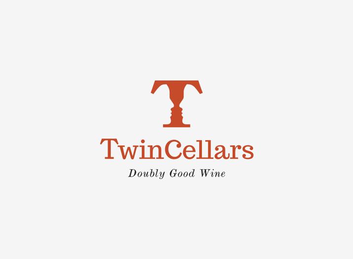 Twin Cellars logo design