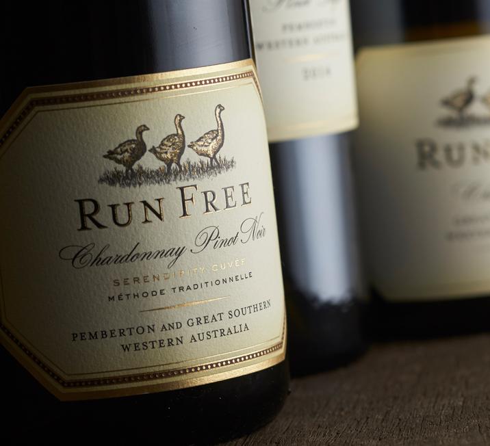 Run Free wine label