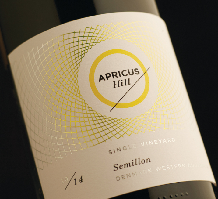 Apricus Hill wine branding