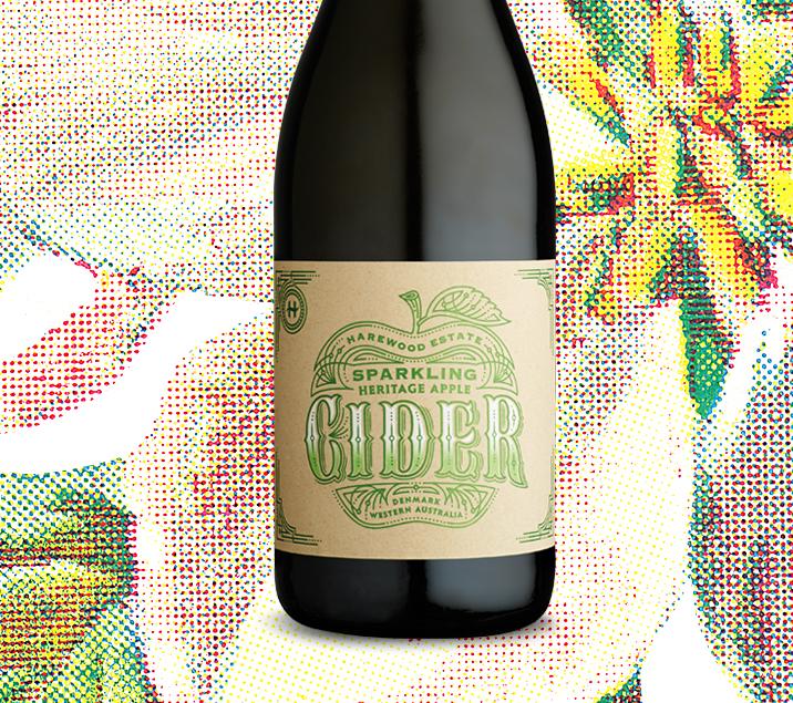 Harewood Estate Cider label