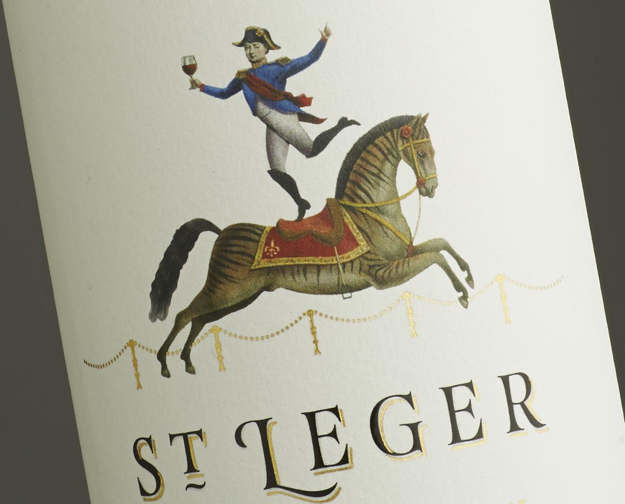 St Leger Wine Branding
