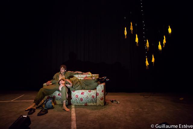 Julie Moulier et Quentin Faure, 2012 - Le Centquatre   Photo : Guillaume Estève