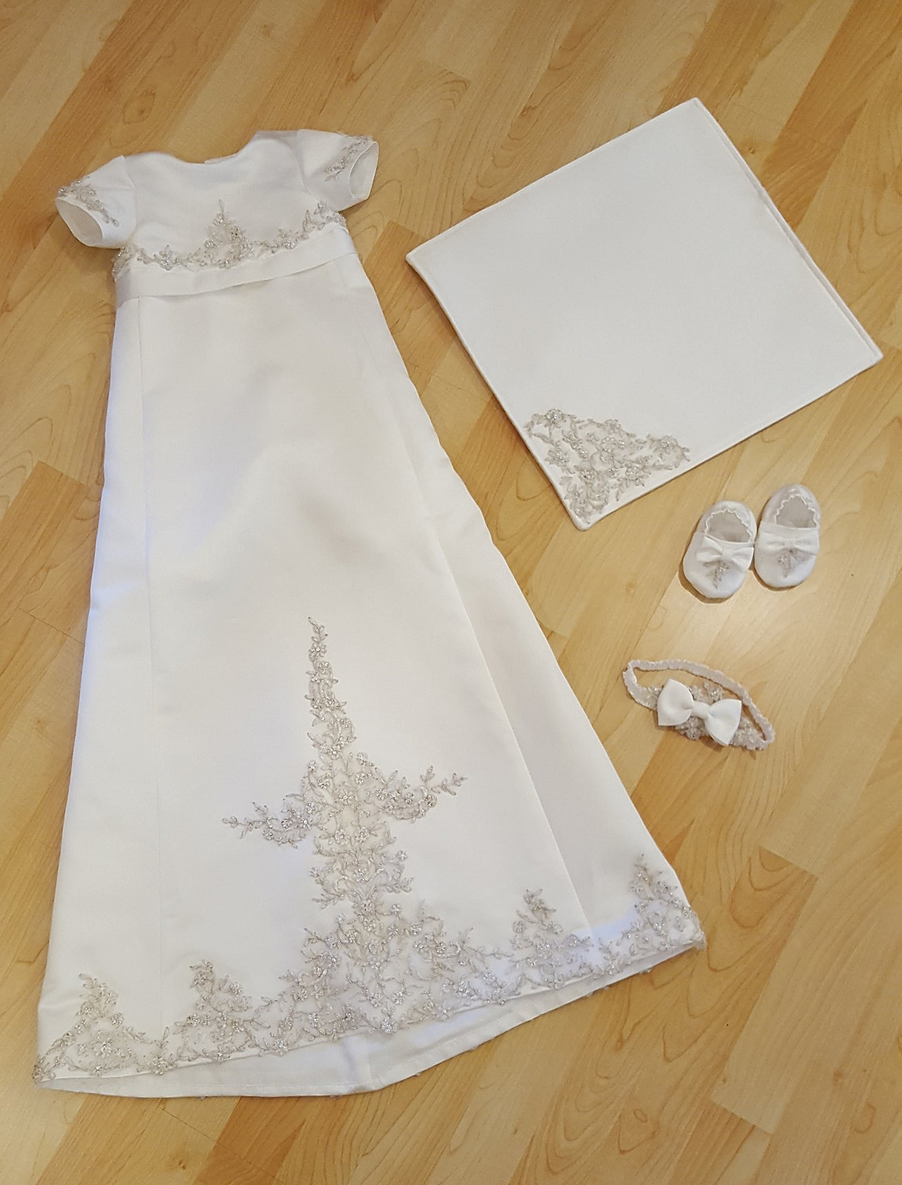 From Wedding Gown to Christening Gown Ensemble