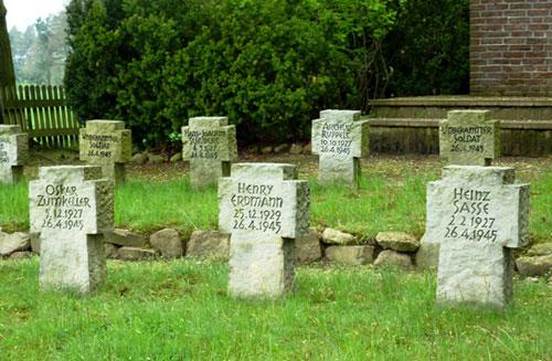 Gräber viel zu junger Soldaten
