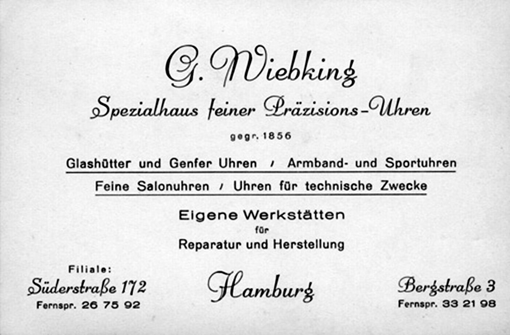 Visitenkarte 1940
