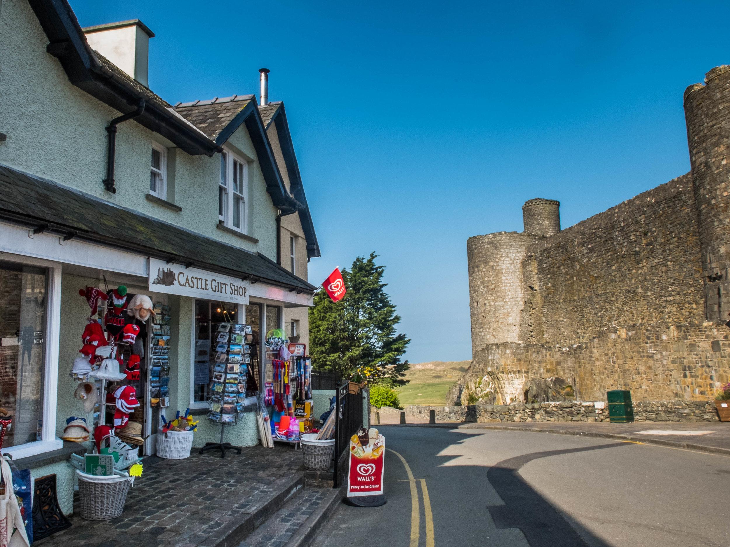 Harlech castle gift shop