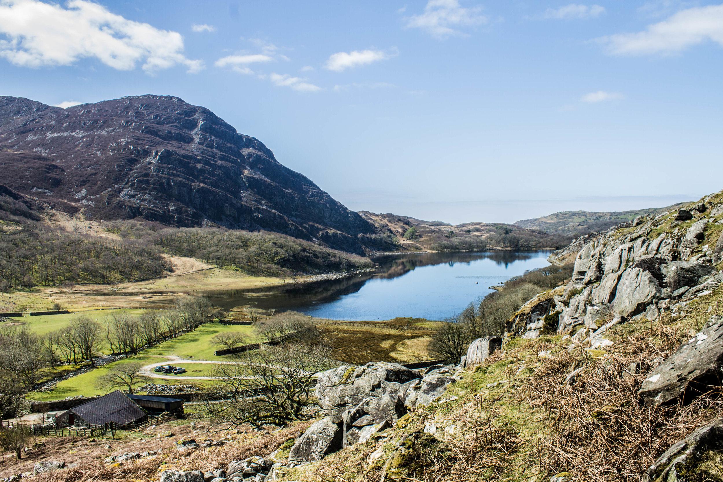 The Roman Steps ancient walk in Harlech, Snowdonia